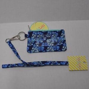 Lanyard & ID Case Blue Floral Badge Holder NWT